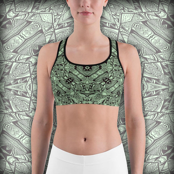 Aztec Navajo Wall - Sports bra - Design Forms Of Art