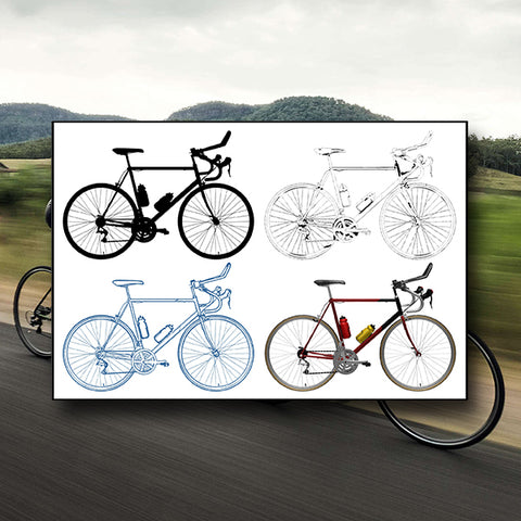 Sport Competition Recreation Race Bicycle 01 - Vector