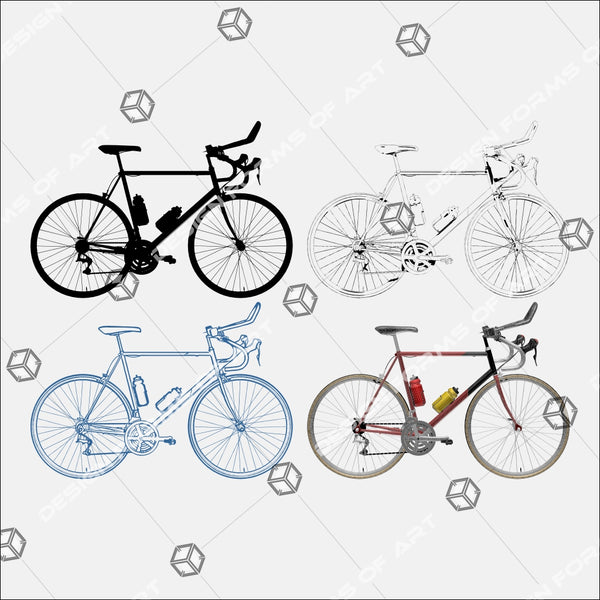 Sport Competition Recreation Race Bicycle 01 - Vector - Design Forms Of Art