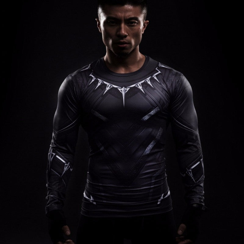 Black Panther Compression Long Sleeve Shirt • Free Shipping - Design Forms Of Art