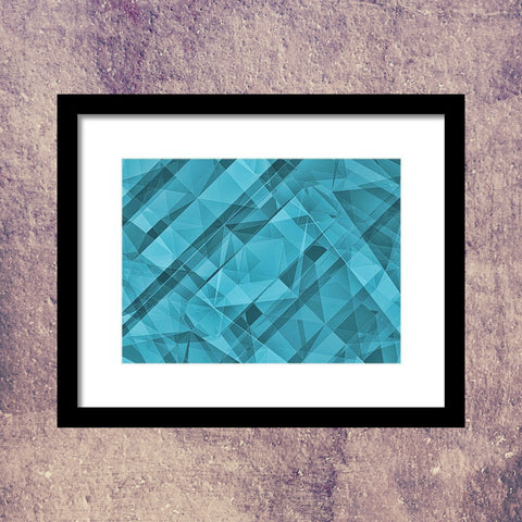 Blue Sky Crystallization - Framed Print - Design Forms Of Art