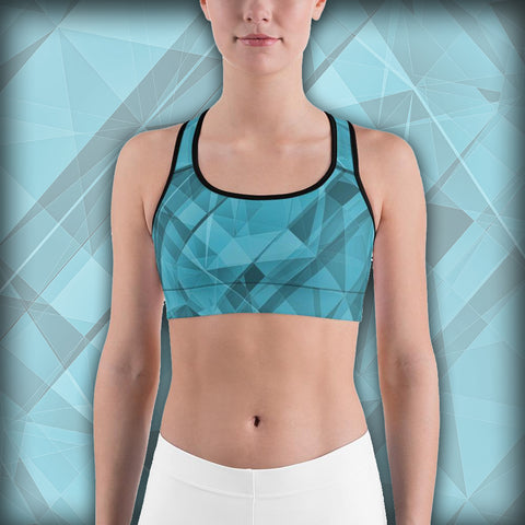 Blue Sky Crystallization - Sports bra - Design Forms Of Art
