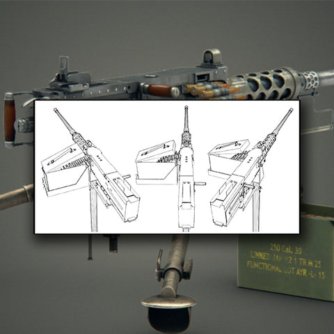 Browning Machine Gun 01 - Vector - Design Forms Of Art