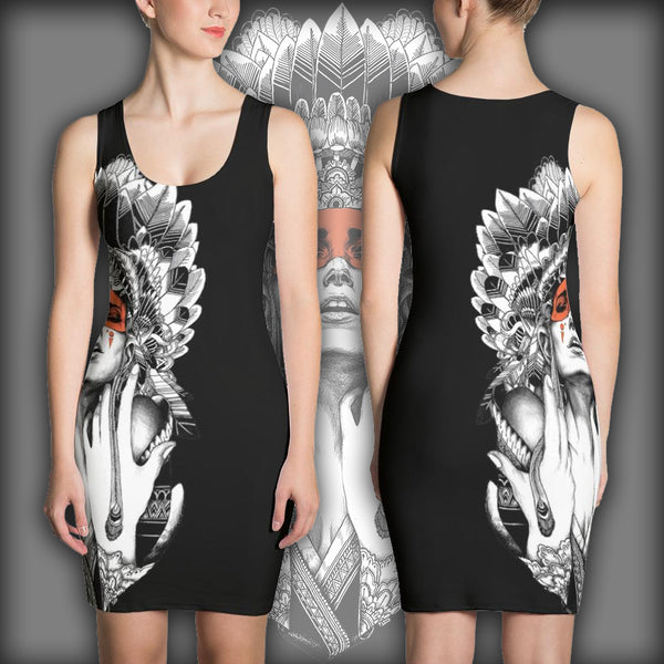 Tribal Woman Chief - Sublimation Cut & Sew Dress
