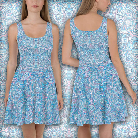 Leaf Crystallization - Skater Dress
