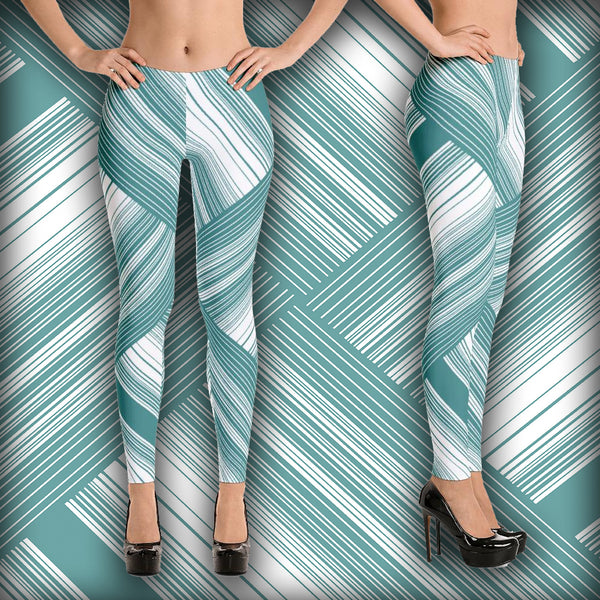 Four Triangle Round - Leggings - Design Forms Of Art
