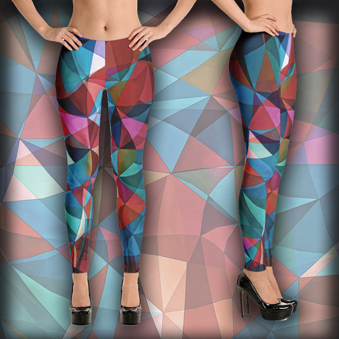 Triangular Crowd - Leggings - Design Forms Of Art