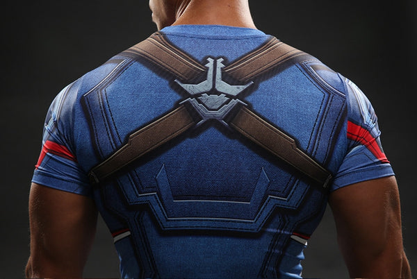 Captain America Compression Shirt • Free Shipping - Design Forms Of Art