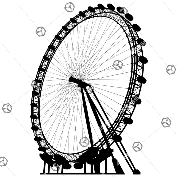 Carousel Silhouette Illustration Isolated On White Background 02 - Vector - Design Forms Of Art