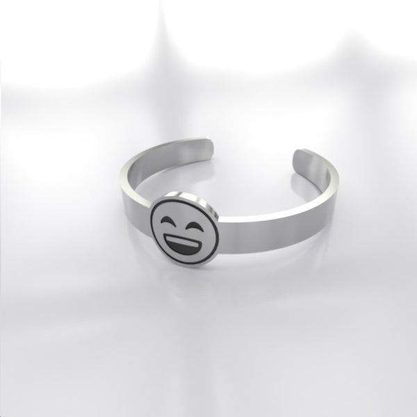Emoji • Smiling Face With Open Mouth - Custom RING - Design Forms Of Art