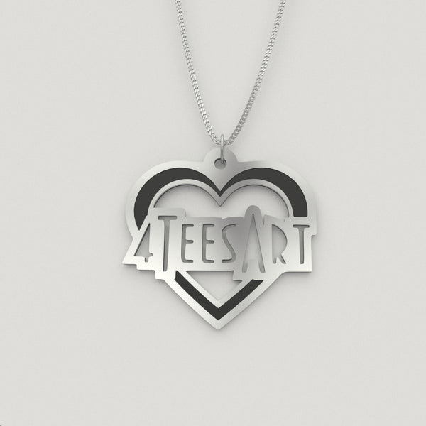 Personalized Name Heart NECKLACE • Mothers Day - Design Forms Of Art