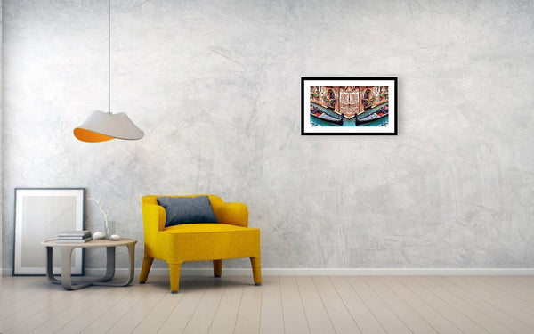 Venice Romantic Corner Dream - Painting - Framed Print