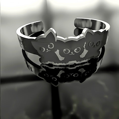 Cat • Cute Cats - Custom RING - 01 - Design Forms Of Art