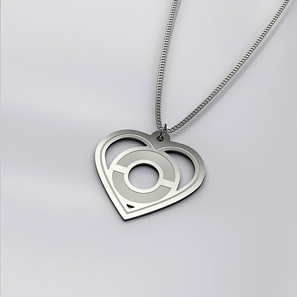 Personalized One Initial In Heart NECKLACE • Mothers Day - Design Forms Of Art