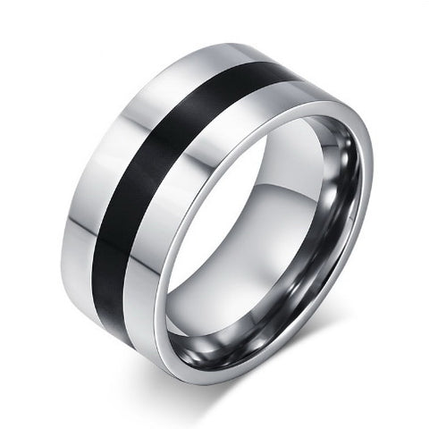 Men Titanium Steel Punk Rock Ring • Free Shipping - Design Forms Of Art