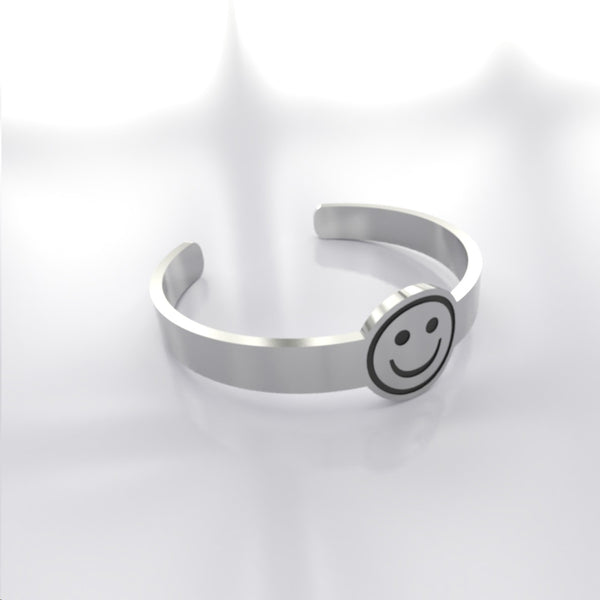 Emoji • Smiling Face - Custom RING - Design Forms Of Art