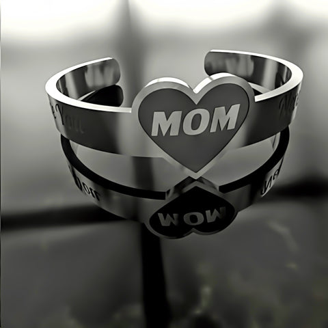 Mom •  I Love You Mom - Custom RING - 01 - Design Forms Of Art