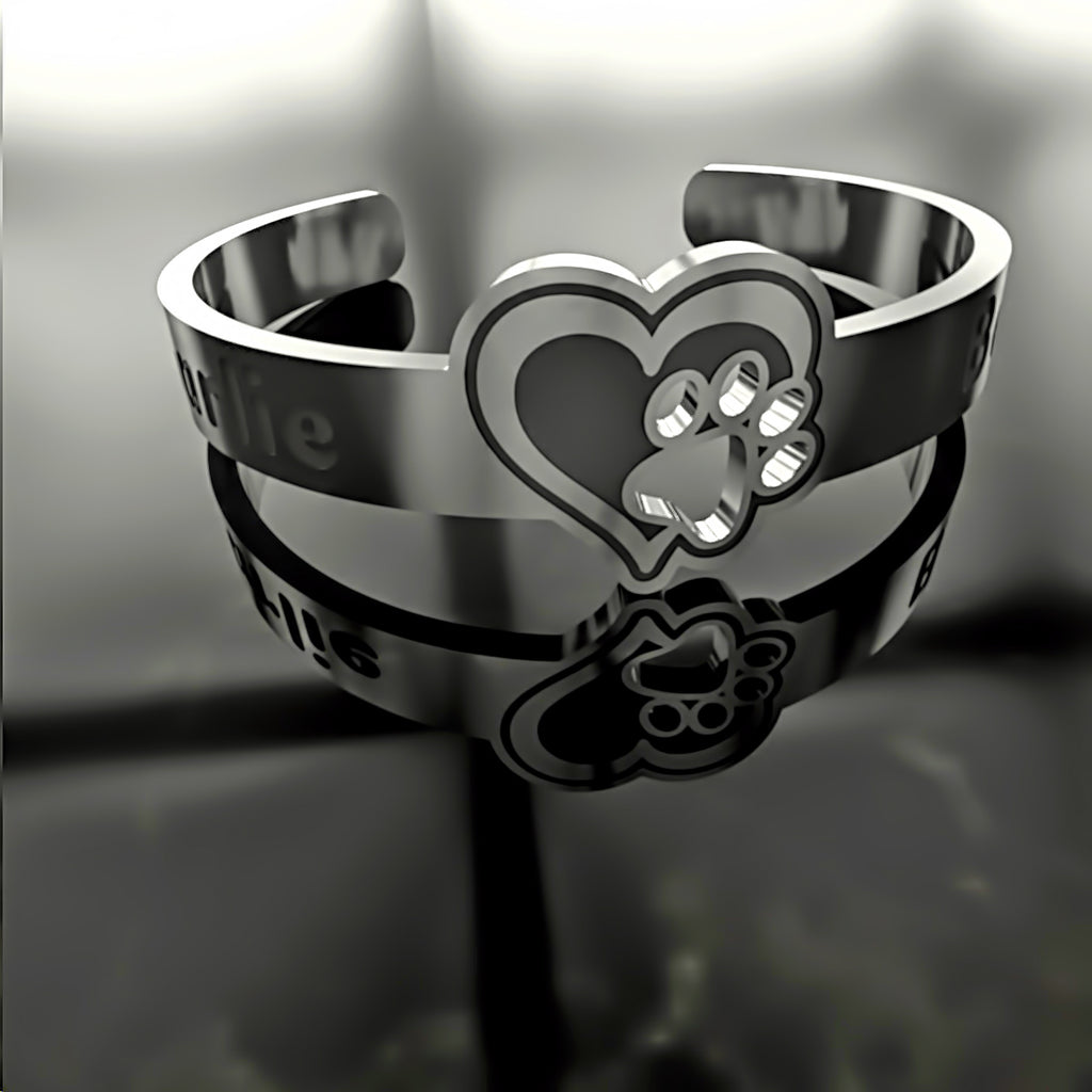Dog Paw In Your Heart - A • Custom RING - Design Forms Of Art