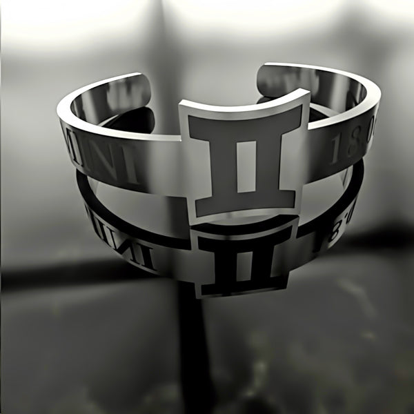 Zodiac - Custom RING - GEMINI - 02 - Design Forms Of Art