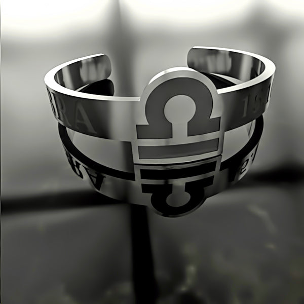 Zodiac - Custom RING - LIBRA - 02 - Design Forms Of Art