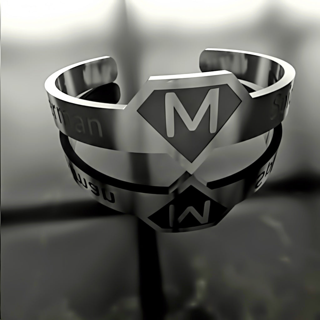 Super Hero Letter Sign - Custom RING - A - Design Forms Of Art