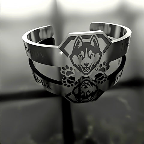Dog • Husky Puppy - Custom RING - 01 - Design Forms Of Art