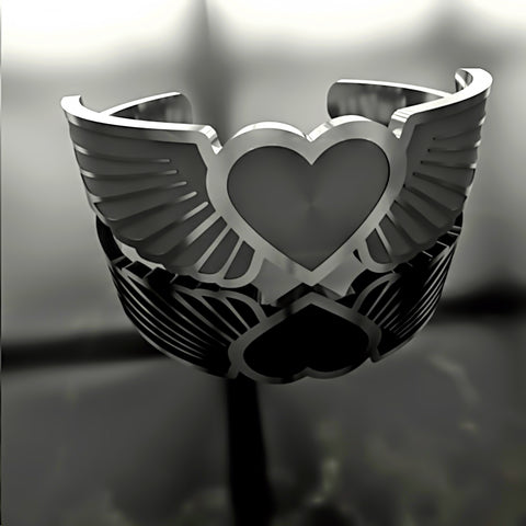 Heart Wings • Custom RING - 02 - Design Forms Of Art