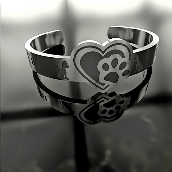 Cat • Cat Paw In Your Heart - Custom RING - 01 - Design Forms Of Art
