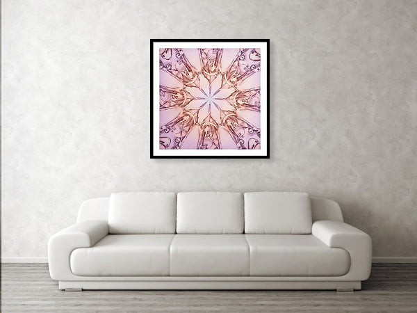 Pink Engravingdness  - Colored Pencils - Framed Print