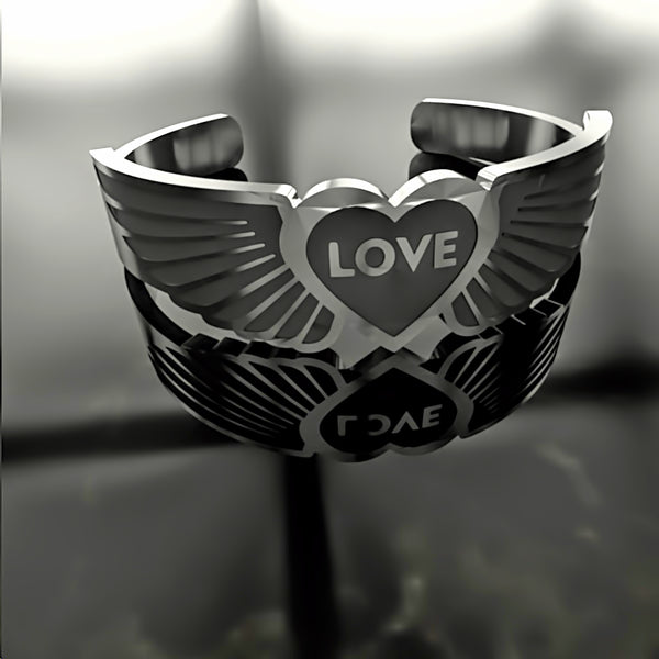 Mothers Day • Love • Heart Wings - Custom RING - 01 - Design Forms Of Art