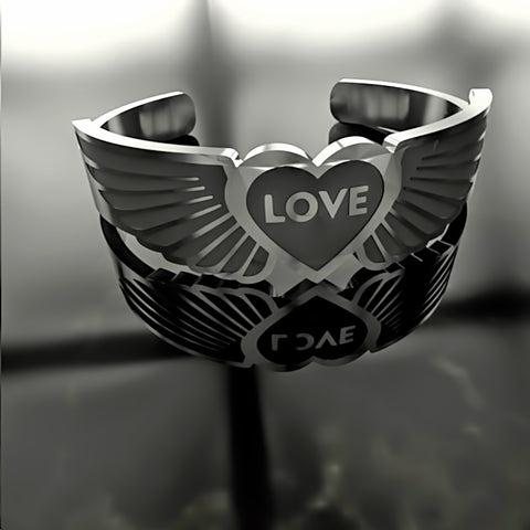 Love • Heart Wings - Custom RING - 01 - Design Forms Of Art
