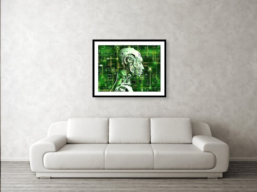 Android Reveals Internal Technology - Framed Print
