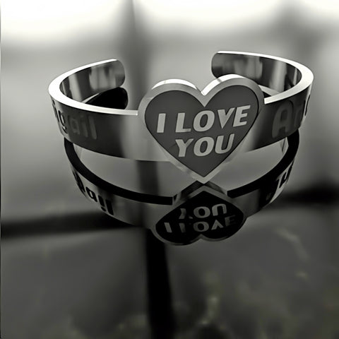 Custom RING • Heart - I Love You - A - Design Forms Of Art