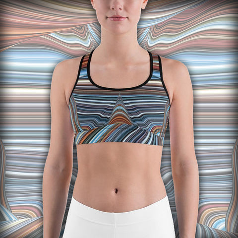 Colorful Horizon - Sports bra - Design Forms Of Art