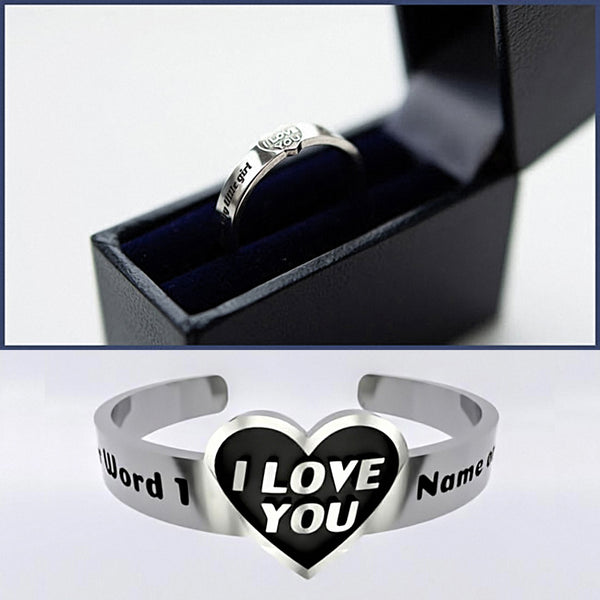 Mothers Day • Heart - I Love You - Custom RING - A - Design Forms Of Art