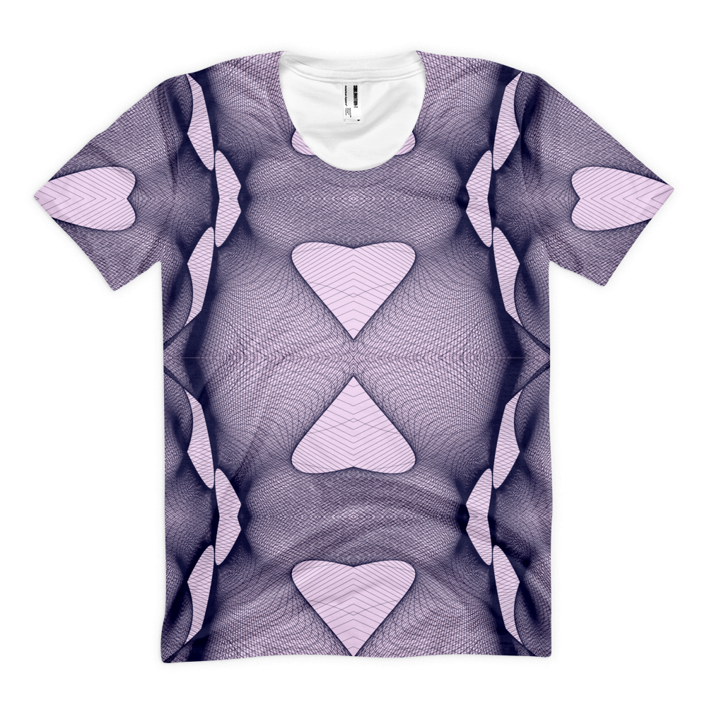 Cyber Heart - Sublimation women's crew neck t-shirt - Design Forms Of Art