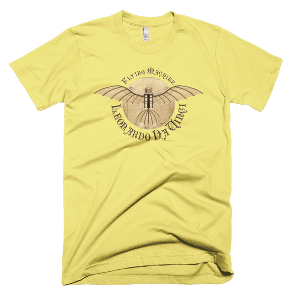 Da Vinci - Antique Flying Machine - T-Shirt - Design Forms Of Art