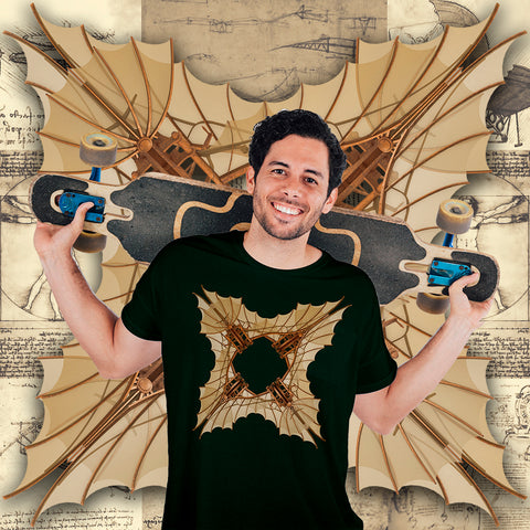 Leonardo da Vinci Glider - Short-Sleeve Unisex T-Shirt - Design Forms Of Art