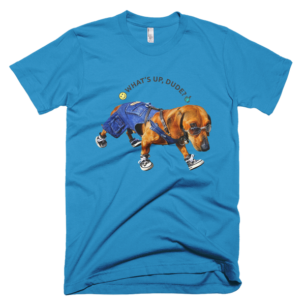 Dog Dude - Short Sleeve Men T-Shirt - Design Forms Of Art