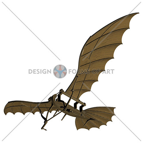 Da Vinci - Antique Flying Machine - Vector 06 - Design Forms Of Art