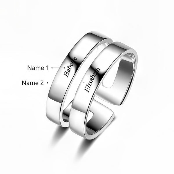Customized Birthstone Silver Ring E • Free Shipping - Design Forms Of Art