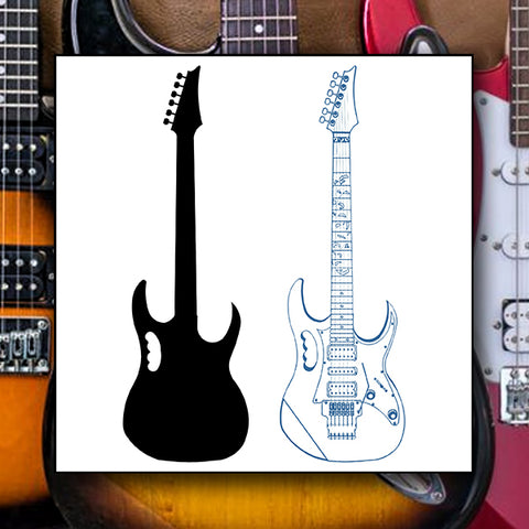 Electric Guitar 01 - Vector - Design Forms Of Art