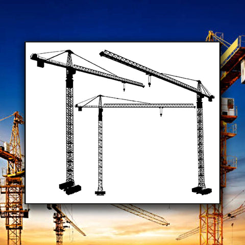 Elevating Construction Crane 01 - Vector