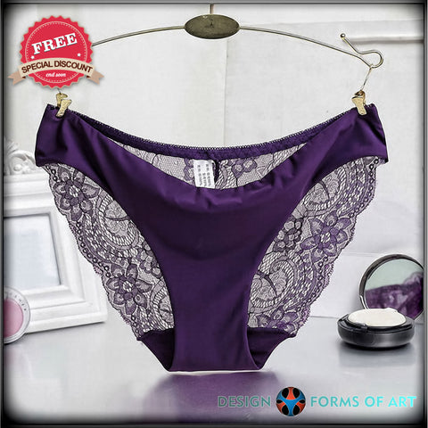 FREE - Colorful Sexy Hot Women's Lace Panties - Design Forms Of Art