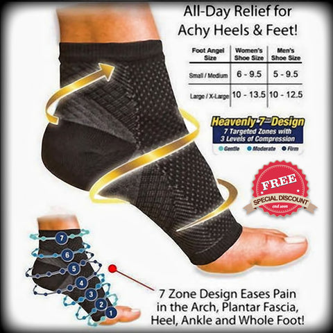 FREE - Relieve Anti Fatigue Compression Foot Sleeve Socks - Design Forms Of Art