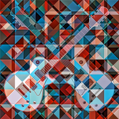 Find The Guitar - Art Print - Design Forms Of Art