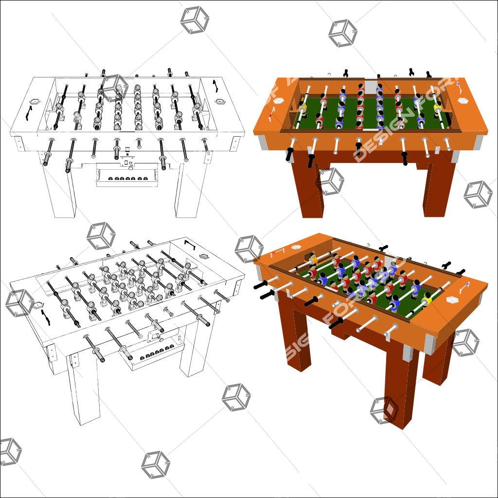 Football And Soccer Game Table 01 - Vector - Design Forms Of Art
