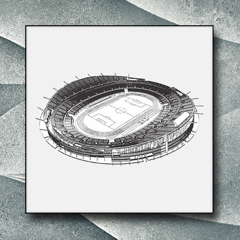 Football Soccer Stadium Illustration Isolated On White Background 03 - Vector - Design Forms Of Art