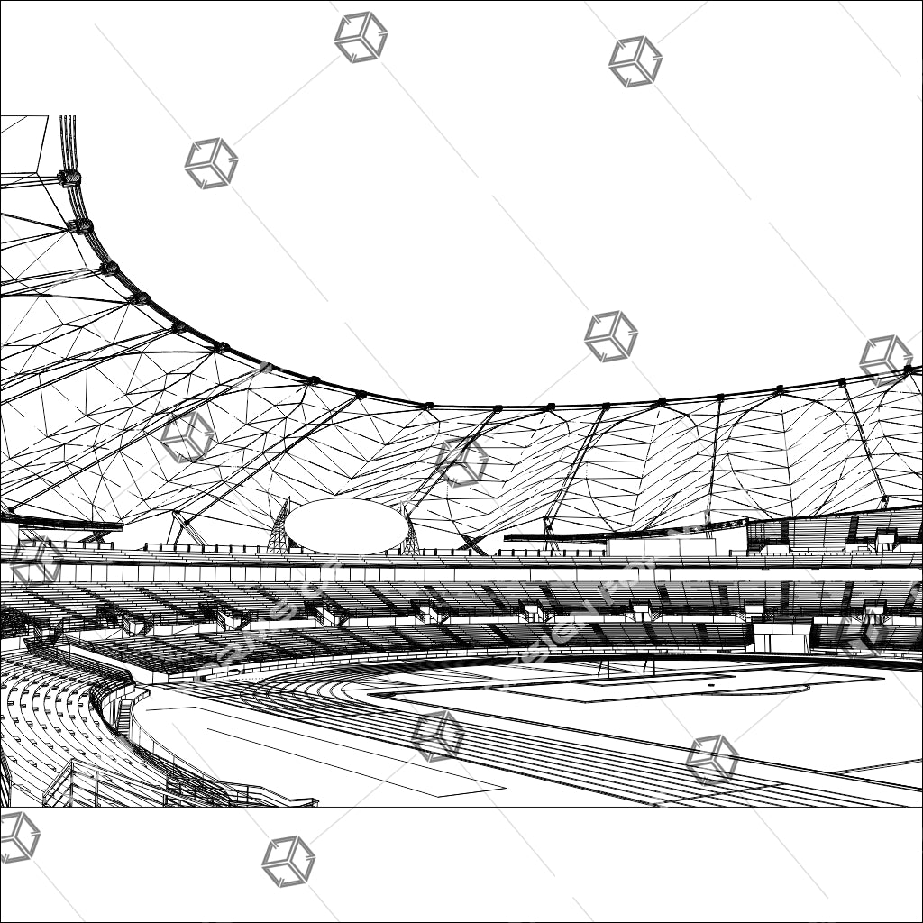 Football Soccer Stadium Illustration Isolated On White Background 01 - Vector - Design Forms Of Art