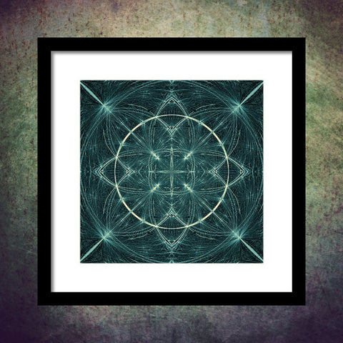 Fractal Fireworks  - Framed Print - Design Forms Of Art